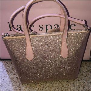 🧞♂️ Kate Spade glitter satchel with crossbody